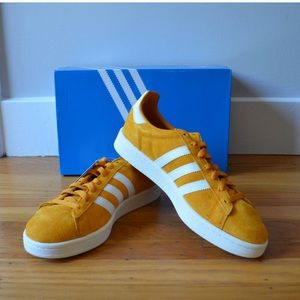 Adidas Campus shoes yellow suede